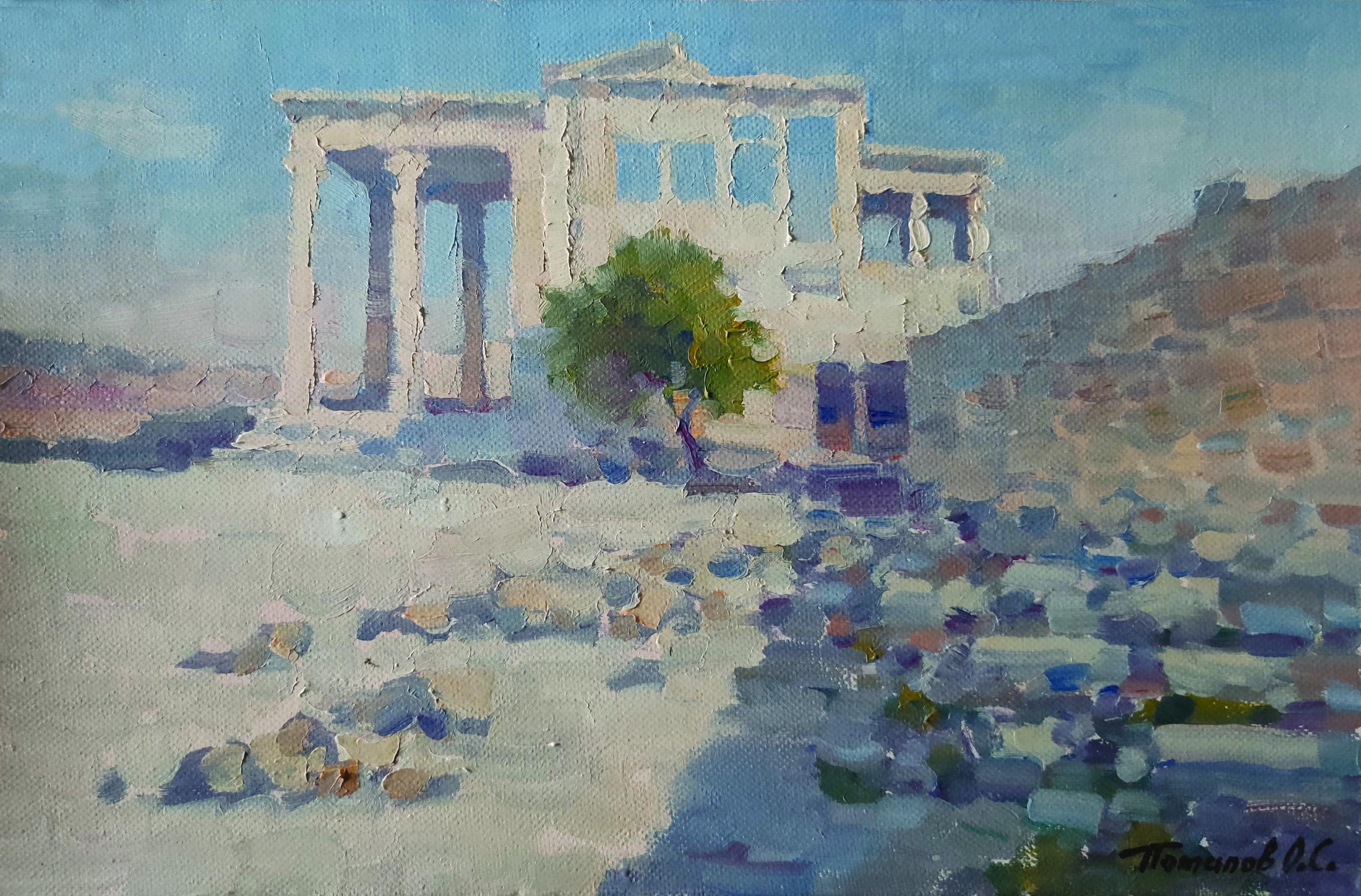 1. Афинская олива в Акрополе. 2018. х.,м. 20х30 см.
