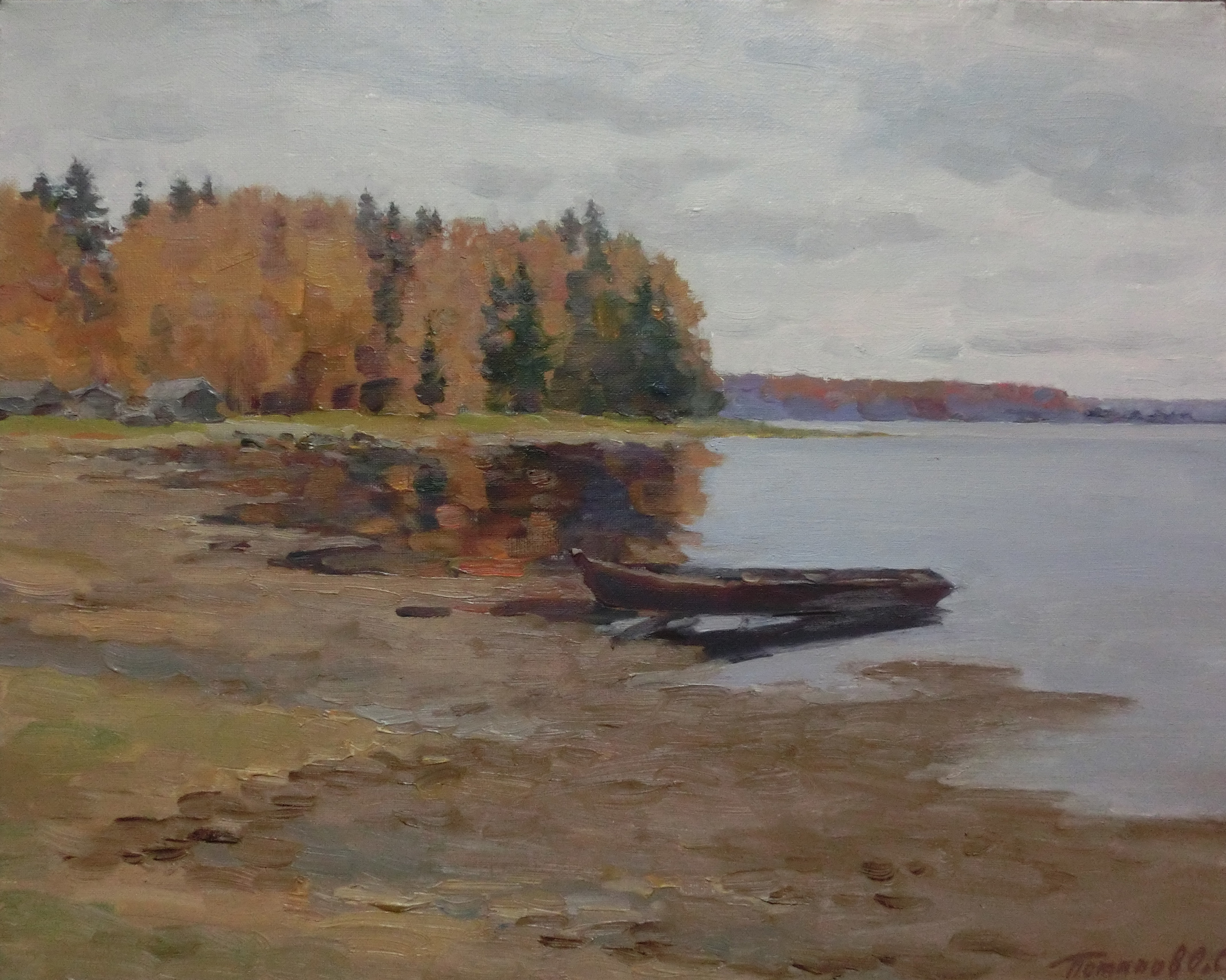 12. Кенозеро. Лодка. 2014. Х.,м. 40х50