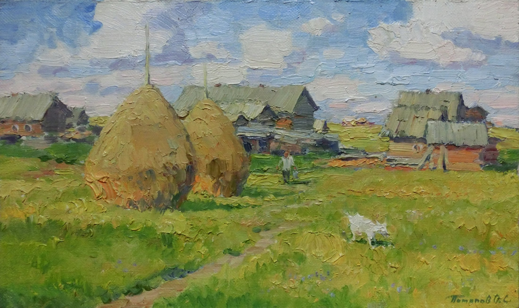 12. Вятка. Деревня. 2016. Х.,м. 30х50
