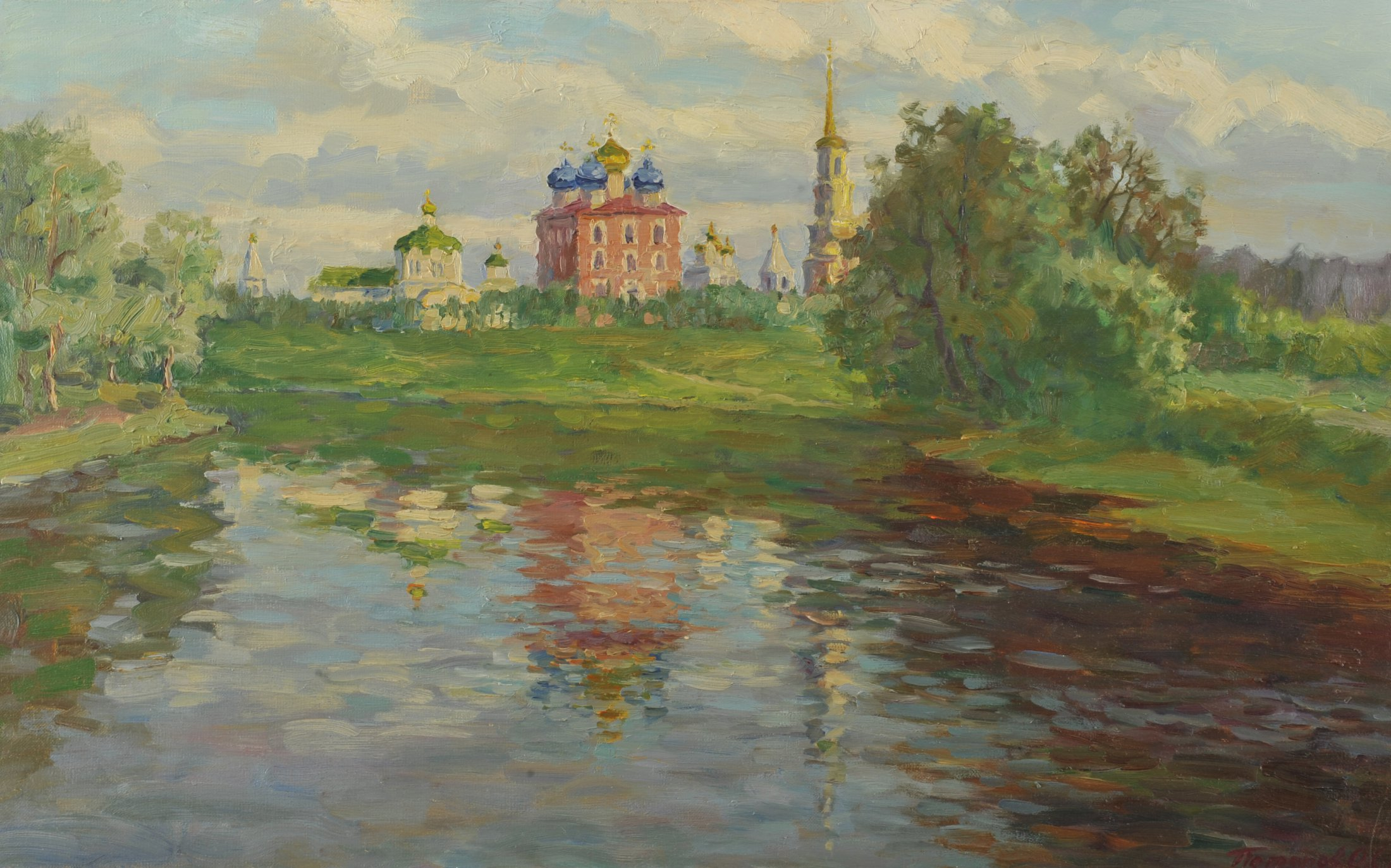 10. Рязанский кремль. 2014. Х., м. 50х80