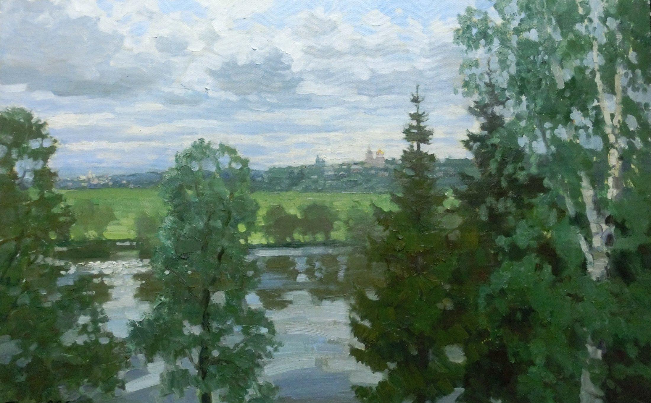 9. Вид на Боровск. 2013. Х., м. 50х80