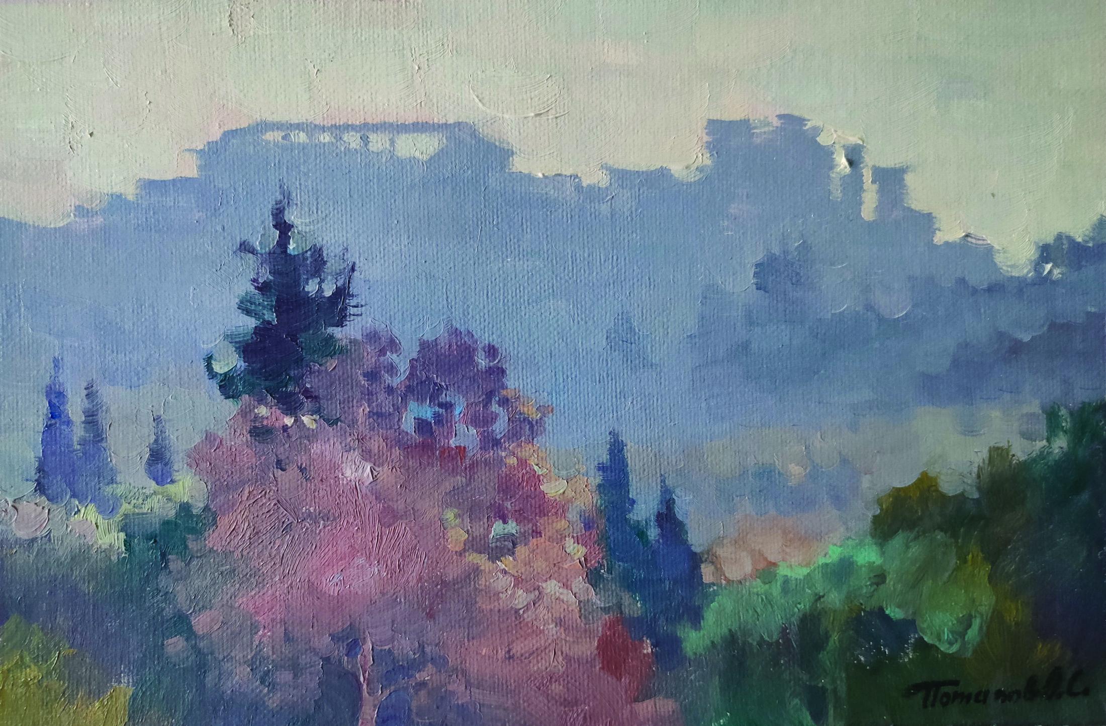 6. Афинский Акрополь утром. 2018. х.,м. 20х30 см.