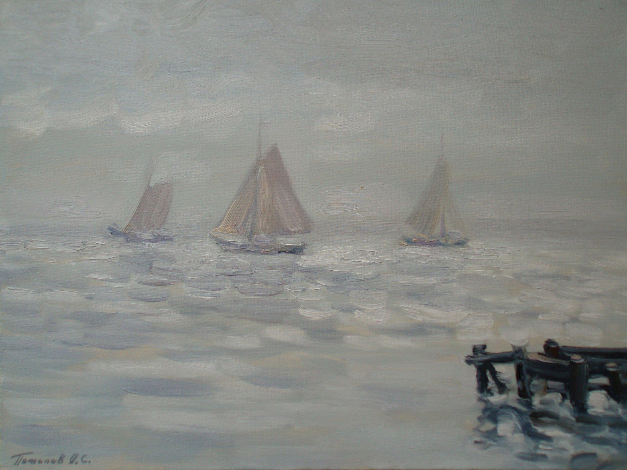 8. Голландия. Серебряные воды. 2009. Х., м. 30х40