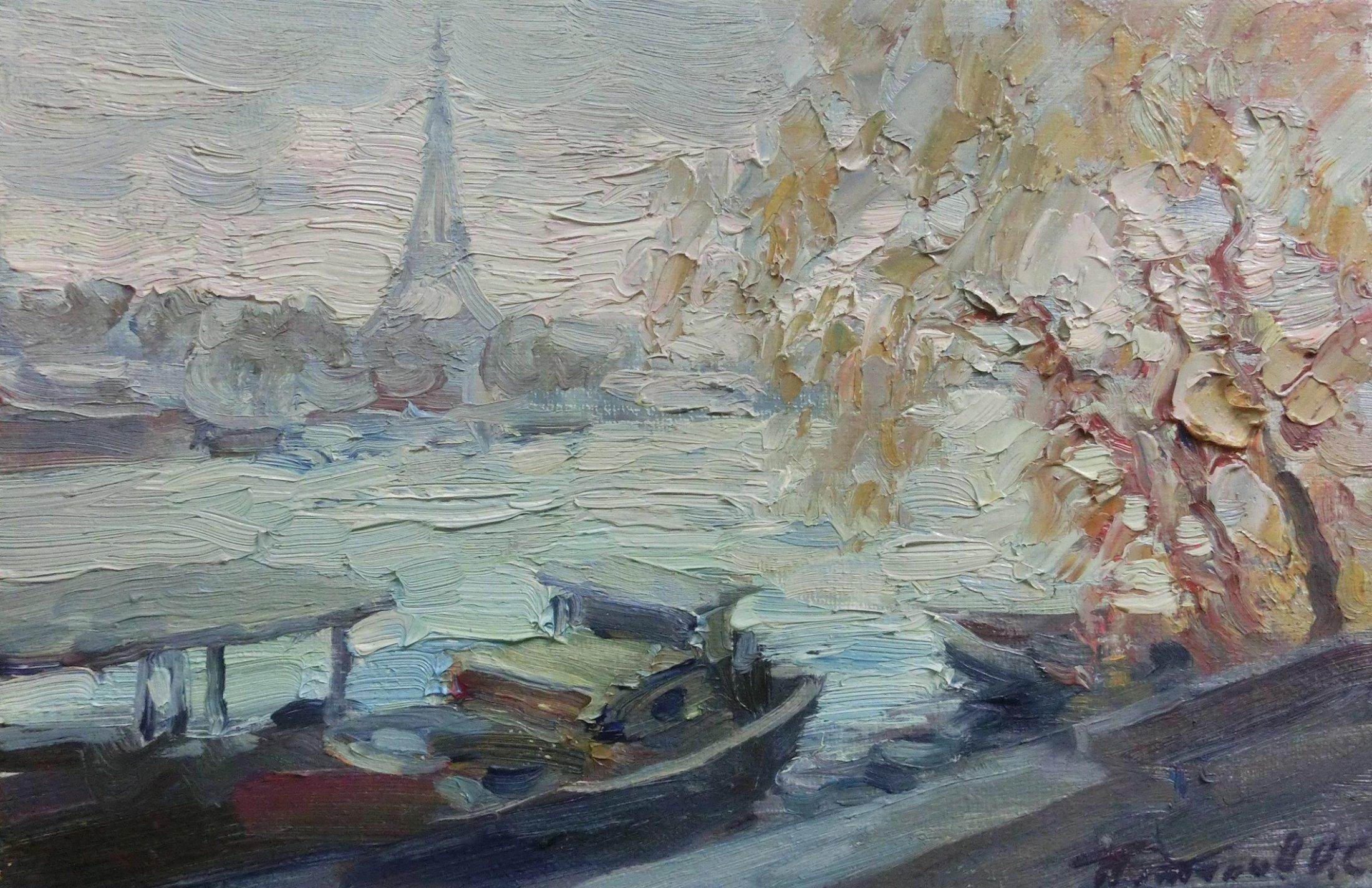 9. Париж. 2007. Х.,м 20х30