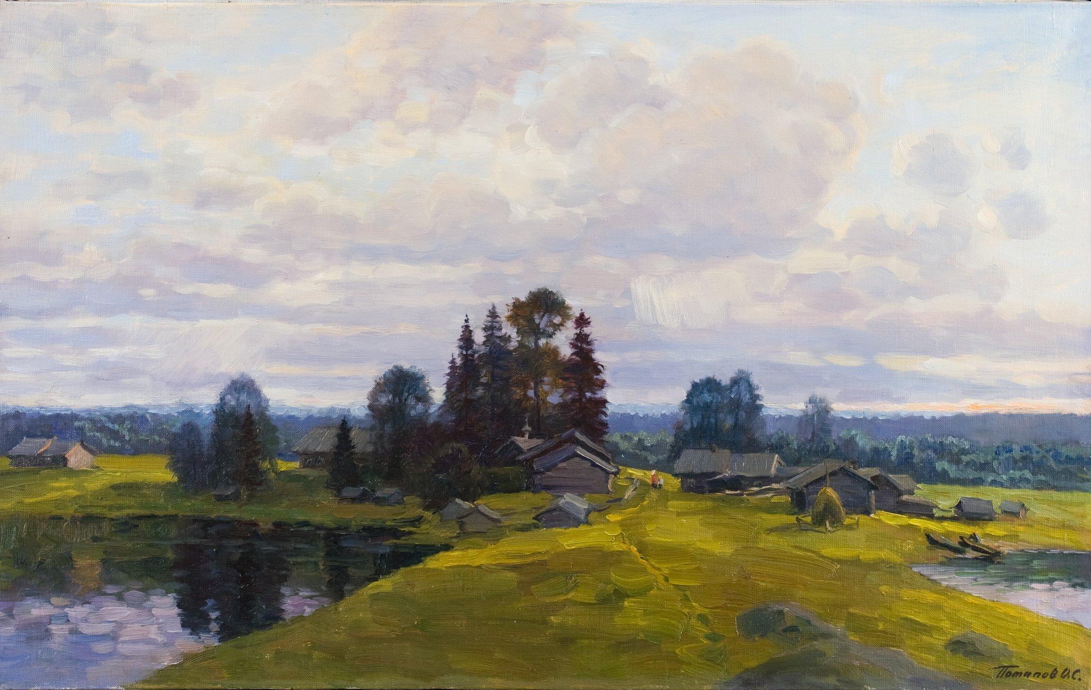 12. В краю лесов и озёр. 2010. Х., м. 50х80