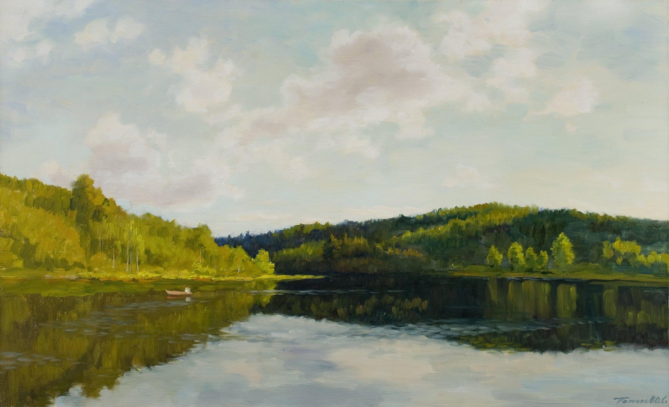 3. Лесное озеро. 2010. Х., м. 50х80