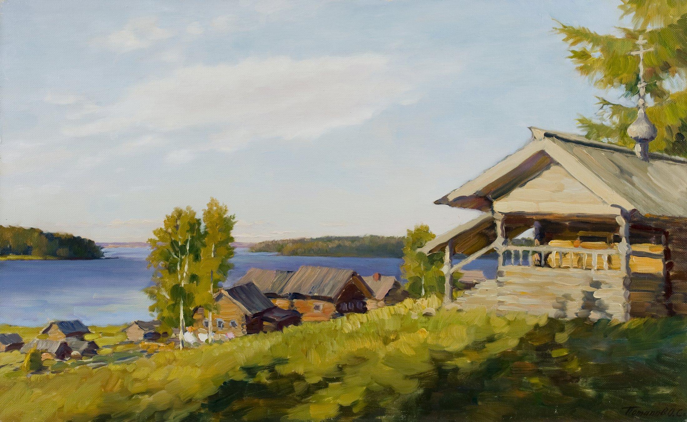 1. Русская деревня. 2010. Х., м. 50х80