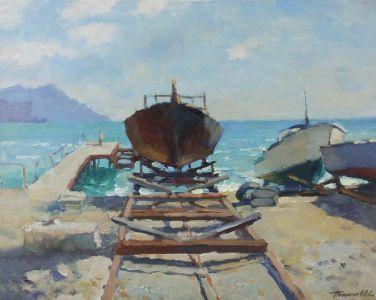 05. Крым. Лодки. 2017. Х.,м. 40х50