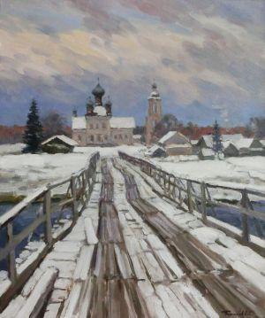 2. Кенозеро. Зимний мост. 2014. Х.,м. 60х50