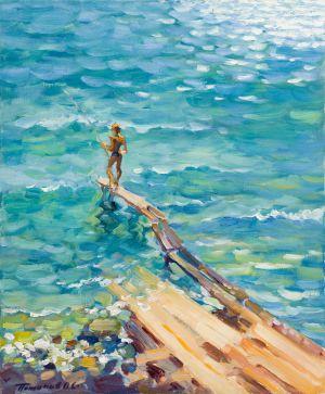 2. Гурзуф. Мальчик и море. 2008. Х.,м. 60х50