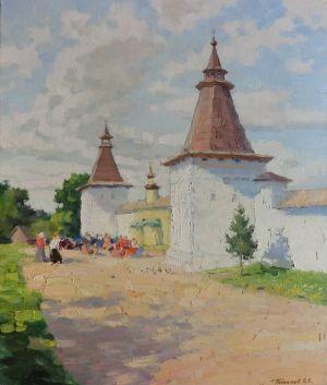 10. У стен монастыря. 2013. Х., м. 60х50