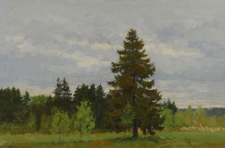 4. Пейзаж под Малоярославцем. 2000. Х.,м. 40х60