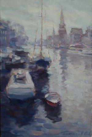 5. Утро в Амстердаме. 2009. Х., м. 30х20