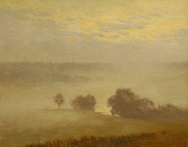 6. Утренний туман. 2000. Х.,м. 40х50