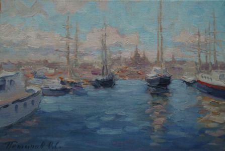 7. Порт в Амстердаме. 2009. Х., м. 20х30