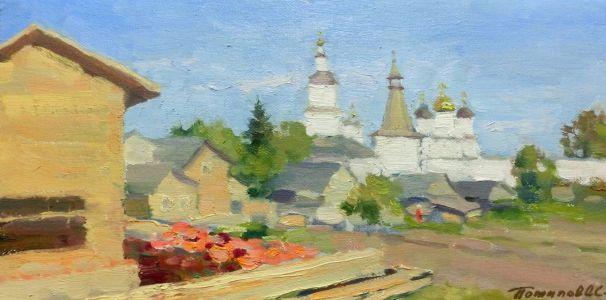 5. Белые храмы. Боровск. 2013. Х., м. 20х40